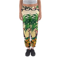 Tropical Design With Flamingo And Palm Tree Women s Jogger Sweatpants