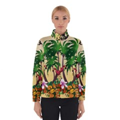 Tropical Design With Flamingo And Palm Tree Winterwear