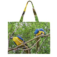 South American Couple Of Parrots Large Tote Bag