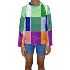 Appleartcom Kid s Long Sleeve Swimwear by Jocelyn Apple/Appleartcom