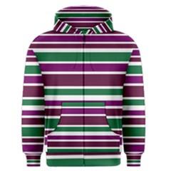 Purple Green Stripes Men s Zipper Hoodie