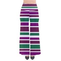 Purple Green Stripes Pants