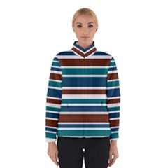 Teal Brown Stripes Winterwear