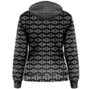 Black White Tiki Pattern Women s Pullover Hoodie View2