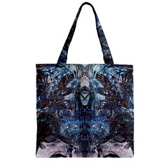 Lost In The Mirror  Zipper Grocery Tote Bag