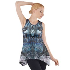 Lost In The Mirror  Side Drop Tank Tunic