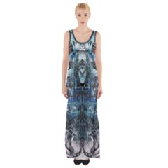 Lost In The Mirror  Maxi Thigh Split Dress