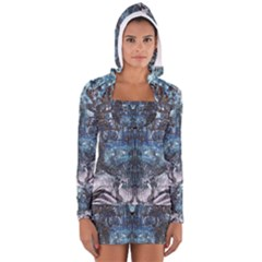 Lost In The Mirror  Women s Long Sleeve Hooded T-shirt