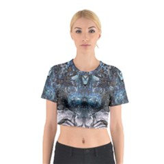 Lost In The Mirror  Cotton Crop Top