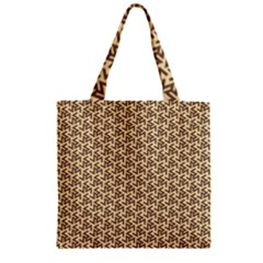 Braided Pattern Zipper Grocery Tote Bag