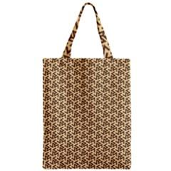 Braided Pattern Zipper Classic Tote Bag