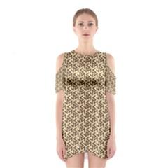 Braided Pattern Cutout Shoulder Dress
