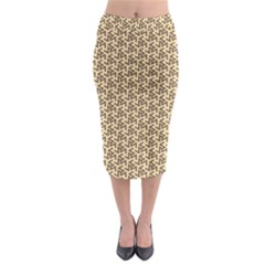 Braided Pattern Midi Pencil Skirt