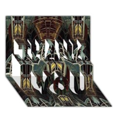 Urban Industrial Rust Grunge THANK YOU 3D Greeting Card (7x5)