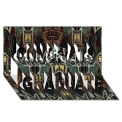 Urban Industrial Rust Grunge Congrats Graduate 3D Greeting Card (8x4)