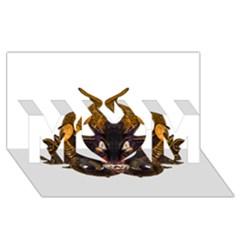 Demon Tribal Mask MOM 3D Greeting Card (8x4)