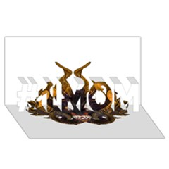 Demon Tribal Mask #1 MOM 3D Greeting Cards (8x4)