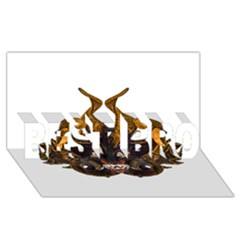Demon Tribal Mask BEST BRO 3D Greeting Card (8x4)