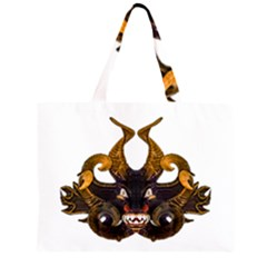 Demon Tribal Mask Large Tote Bag