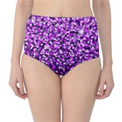 Purple Rain High-Waist Bikini Bottoms