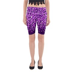 Purple Rain Yoga Cropped Leggings