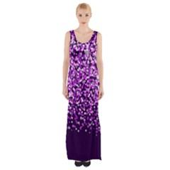 Purple Rain Maxi Thigh Split Dress