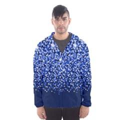 Blue Glitter Rain Hooded Wind Breaker (Men)