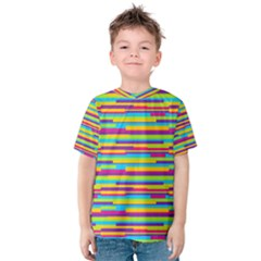 Colorful Stripes Background Kid s Cotton Tee