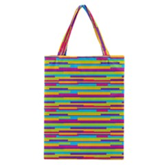 Colorful Stripes Background Classic Tote Bag