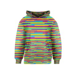 Colorful Stripes Background Kids  Pullover Hoodie
