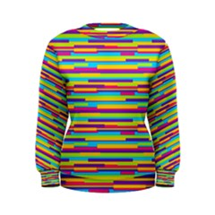 Colorful Stripes Background Women s Sweatshirt