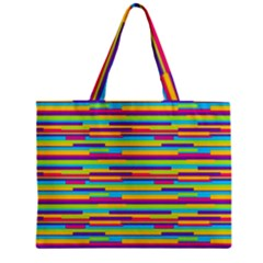 Colorful Stripes Background Zipper Mini Tote Bag