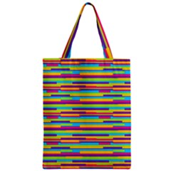 Colorful Stripes Background Zipper Classic Tote Bag