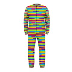 Colorful Stripes Background OnePiece Jumpsuit (Kids)
