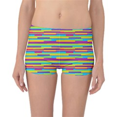 Colorful Stripes Background Boyleg Bikini Bottoms