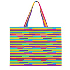 Colorful Stripes Background Large Tote Bag