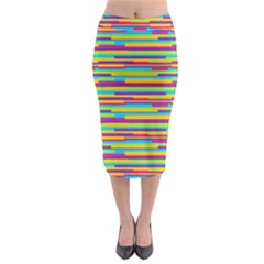 Colorful Stripes Background Midi Pencil Skirt