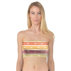 Watercolor Stripes Background With Stars Bandeau Top