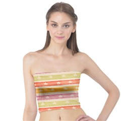 Watercolor Stripes Background With Stars Tube Top