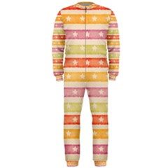 Watercolor Stripes Background With Stars OnePiece Jumpsuit (Men)