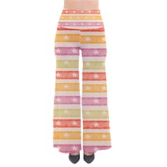 Watercolor Stripes Background With Stars Pants