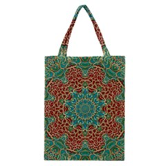 The Wooden Heart Mandala,giving Calm Classic Tote Bag