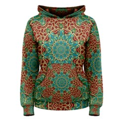 The Wooden Heart Mandala,giving Calm Women s Pullover Hoodie