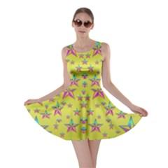 Flower Power Stars Skater Dress