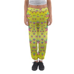Flower Power Stars Women s Jogger Sweatpants