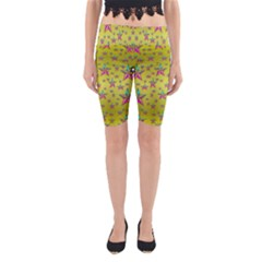Flower Power Stars Yoga Cropped Leggings