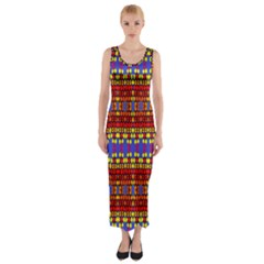 Egypt Star Fitted Maxi Dress