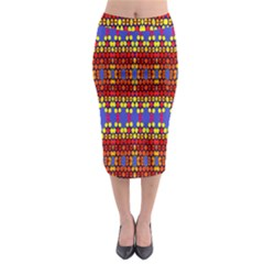 Egypt Star Midi Pencil Skirt