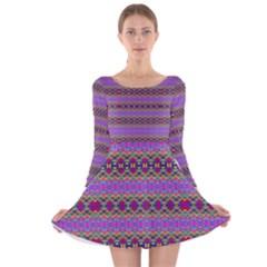 TESLA Long Sleeve Velvet Skater Dress