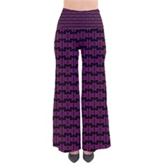 Pink Black Retro Tiki Pattern Pants